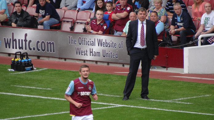 Sam Allardyce Managing at West Ham United