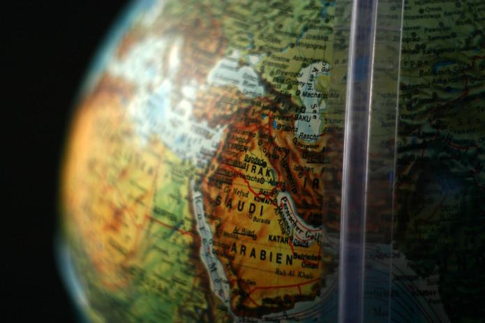 Saudi Arabia on Globe