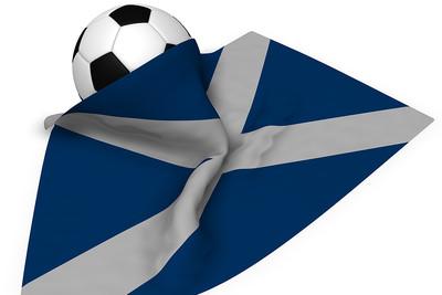 Scotland Flag and Football