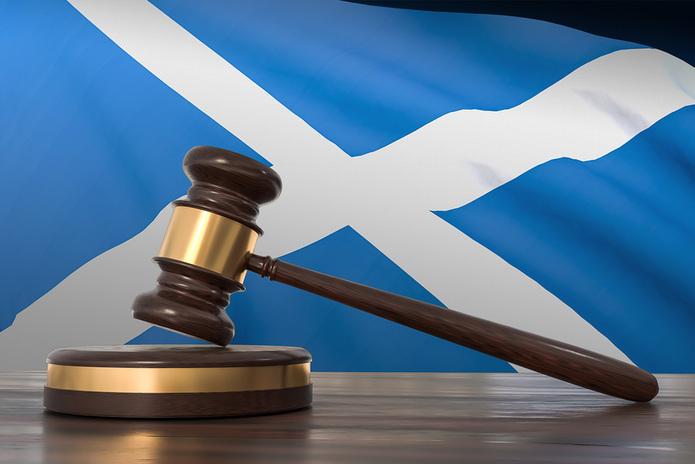 Scotland Flag and Gavel