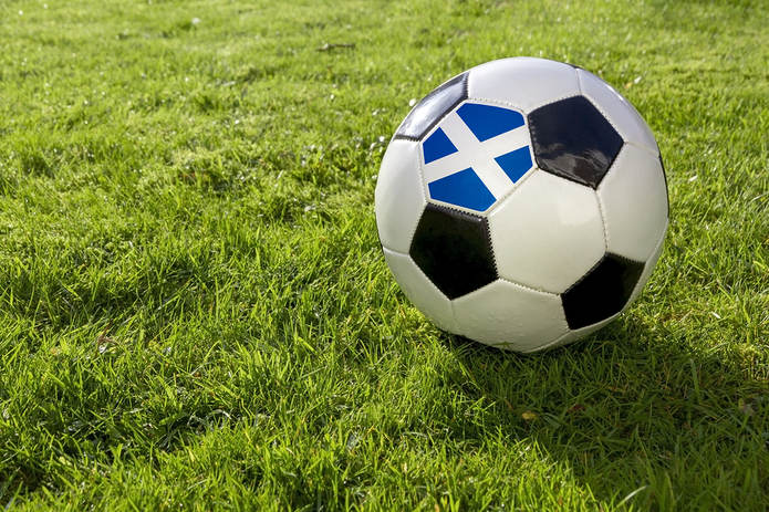 Scotland Football on Grass