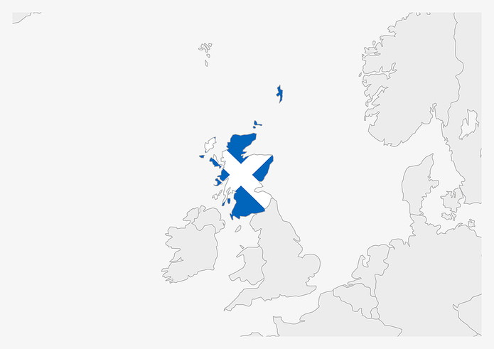 Scotland Highlighted on Map
