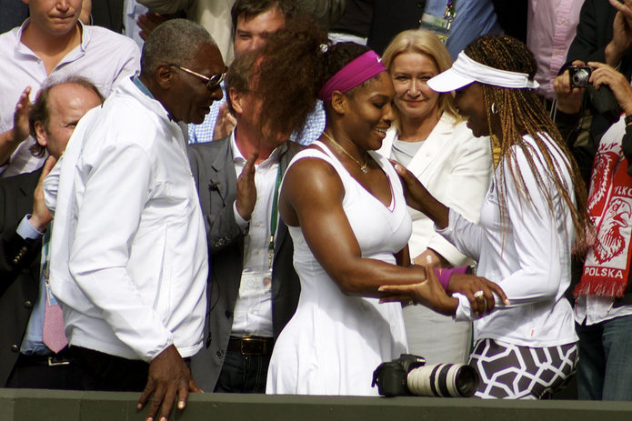 Richard, Serena and Venus Williams at Wimbledon