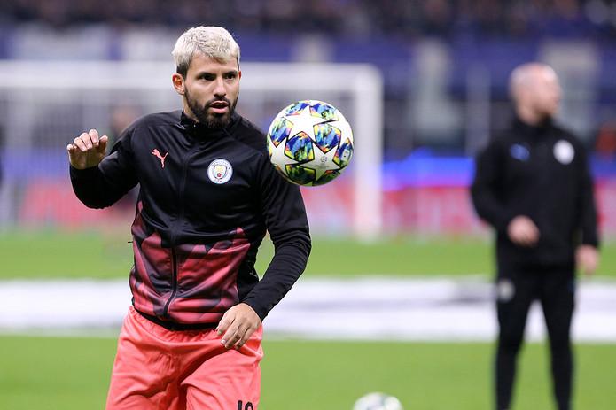 Sergio Aguero Training Pre Match