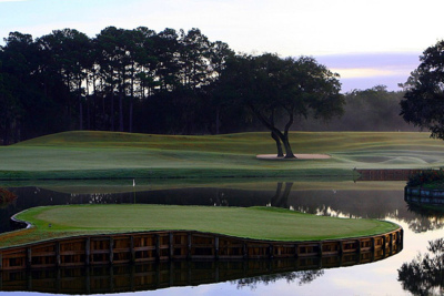 Seventeenth Hole at the TPC at Sawgrass Golf Course in Florida