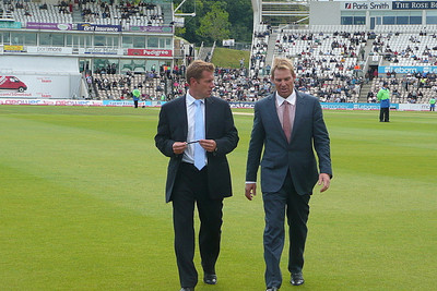 Shane Warne at Cricket Match