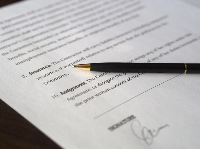 Signature on Paperwork