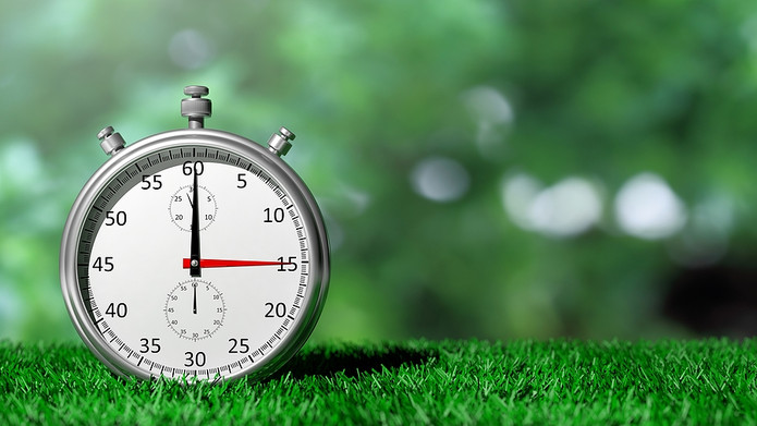 Silver Chronometer on Grass