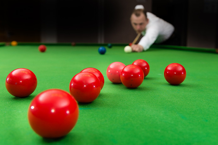 Snooker Player Blurred