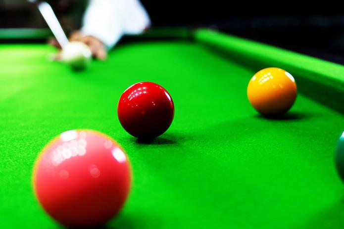 Snooker Player Taking Shot