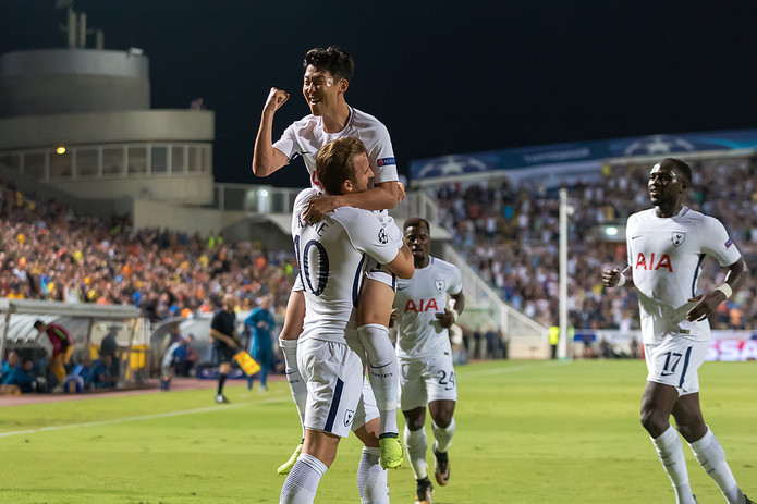 Son Heung-min Celebrating Goal with Harry Kane