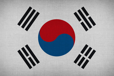 South Korea Material Flag
