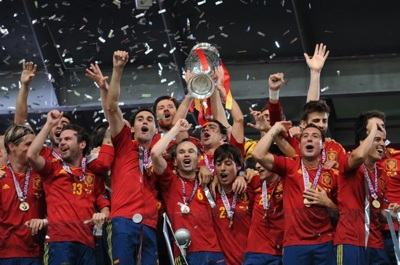 Spain National Team Celebrates