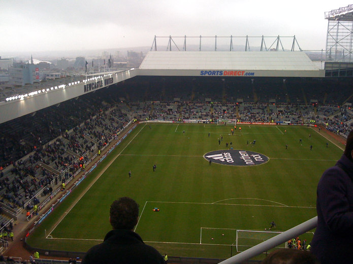 St James Park in Newcastle
