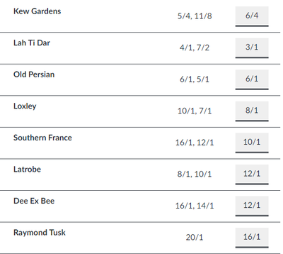 Betting Odds for the 2018 St Leger Horse Race