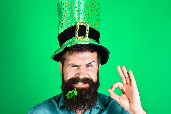 St Patrick's Day Hat & Clover