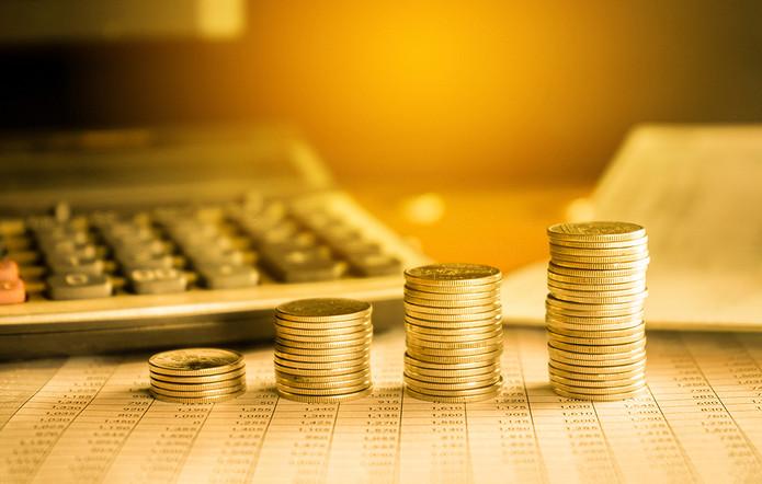 Stacks of Coins on Balance Sheet