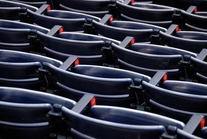 Dark Blue Stadium Seats