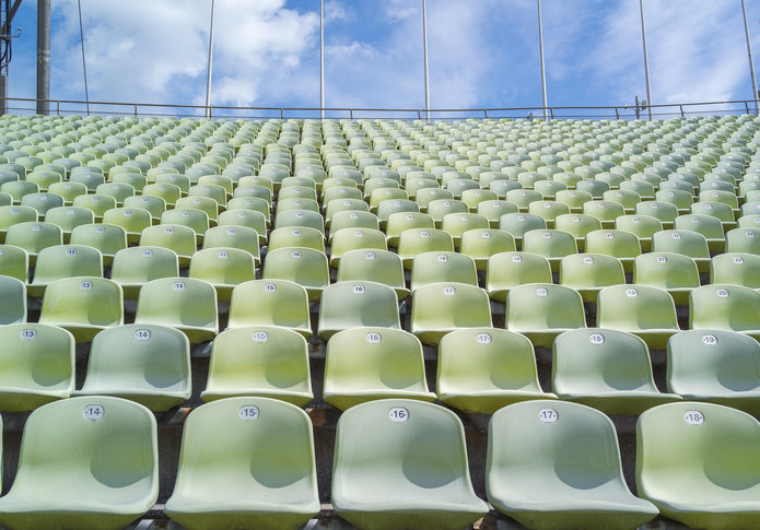 Empty Green Stadium Seats