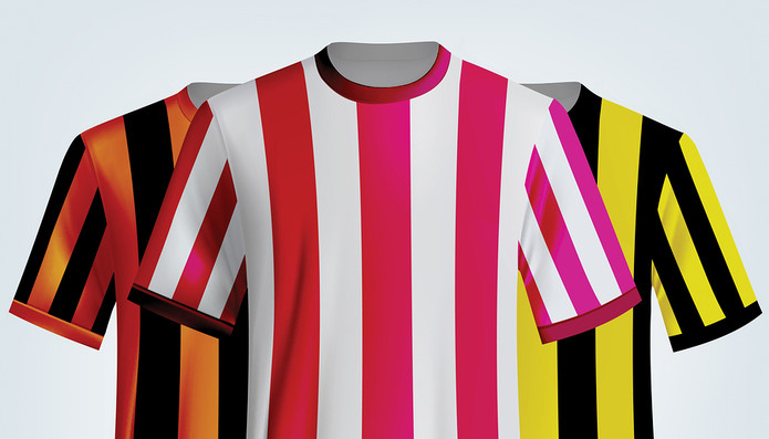 Striped Football Shirts