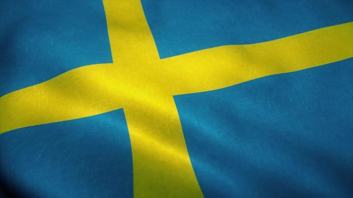 Sweden Flag Faded