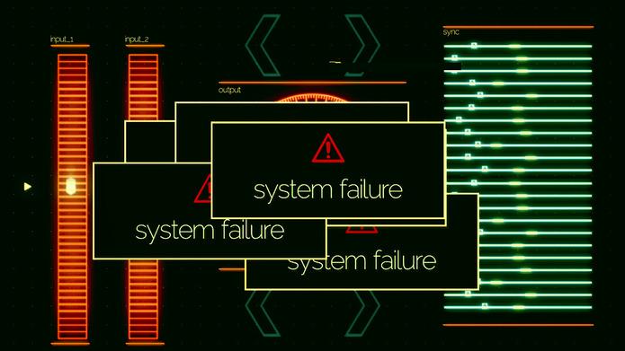 System Failure on Digital Screen