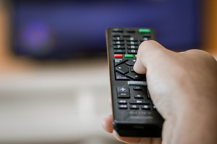 Television Remote In Hand