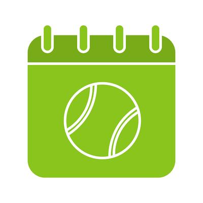 Tennis Ball Calendar Icon