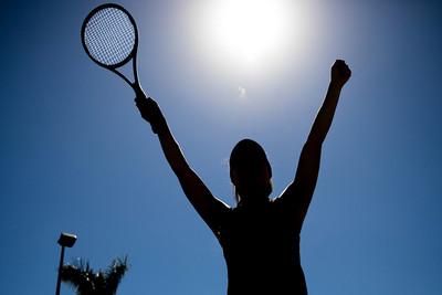 Female Tennis Player Silhouette