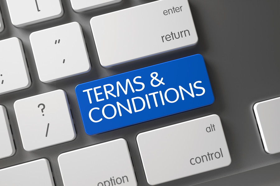 Terms and Conditions Button on Keyboard