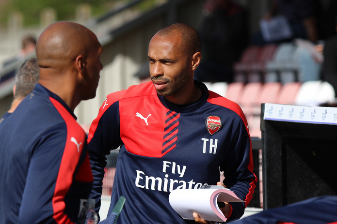Thierry Henry Coaching at Arsenal
