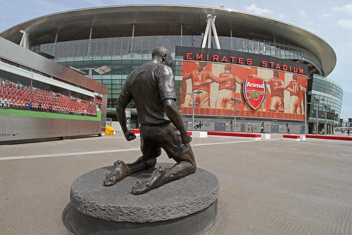 Thierry Henry Statue at Arsenal's Emirates Stadium
