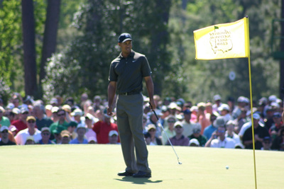 Golfer Tiger Woods Playing at The Masters
