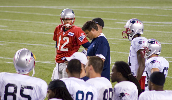 Tom Brady with New England Patriots