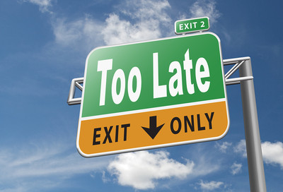 Too Late Road Sign