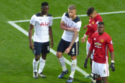 Tottenham Hotspur and Manchester United Players During Game
