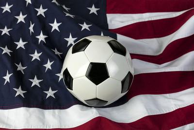 Traditional Football on USA Flag