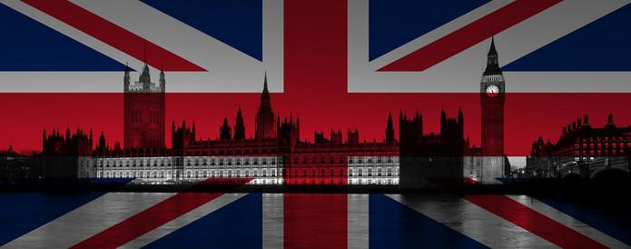UK Flag Over Westminster