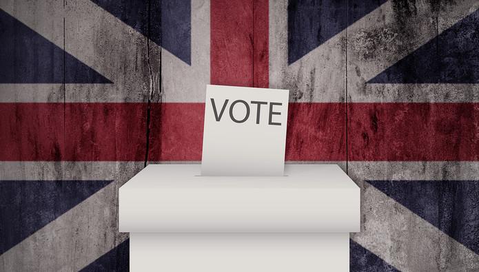 UK Flag and Ballot Box
