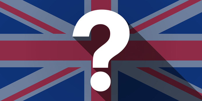 UK Flag and Question Mark