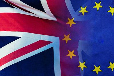 UK and EU Merged Flags