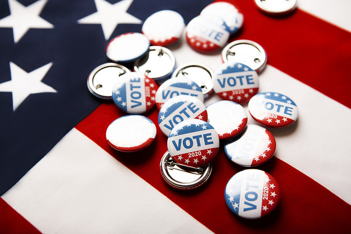 US Election 2020 Pin Badges