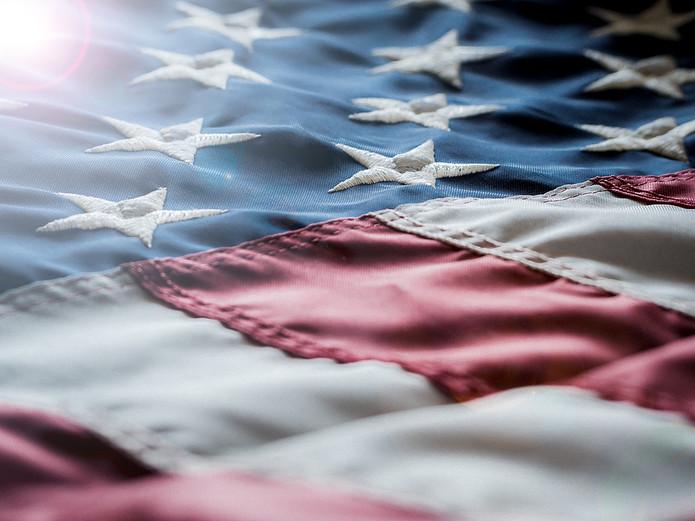 USA Flag Fabric Detail