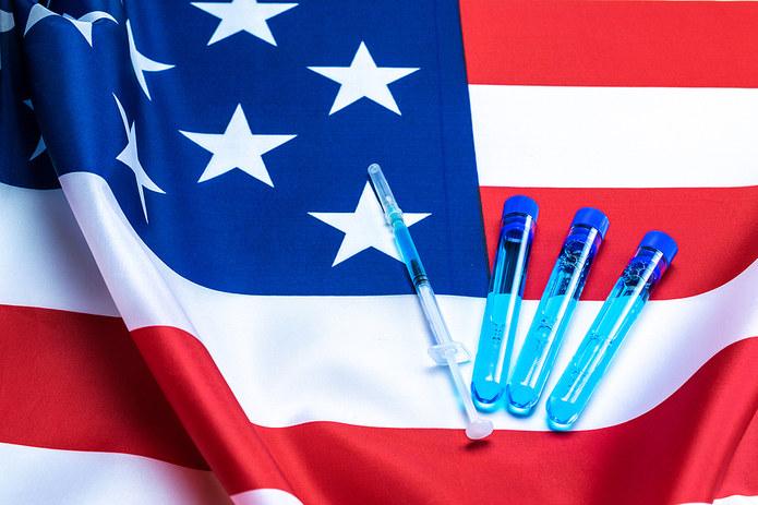 USA Flag and Syringe