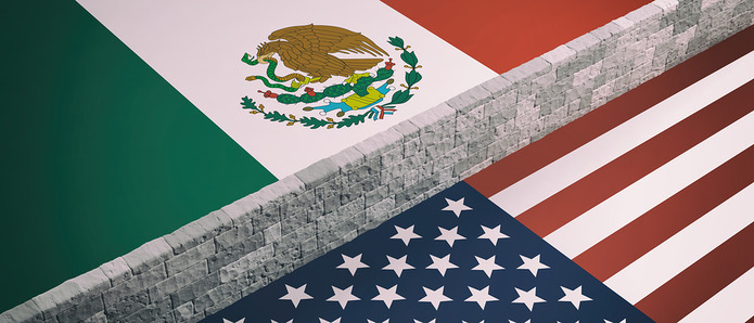 USA Mexico Wall