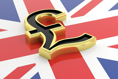 Union Jack and British Pound Symbol