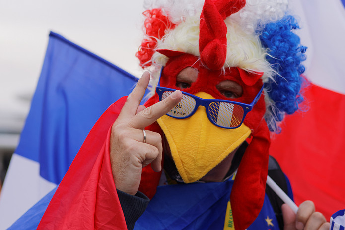 Upset French Football Fan