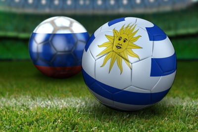 Uruguay and Russia Football World Cup Image