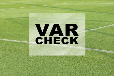VAR Check on Football Pitch