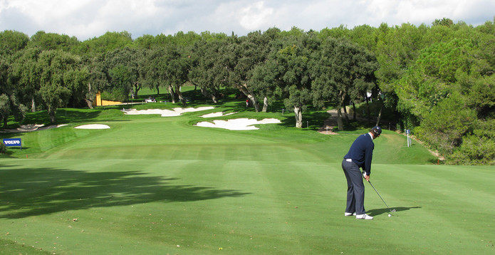 Golfer at Valderrama Golf Course